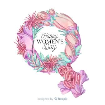 Fundo de dia das mulheres em aquarela