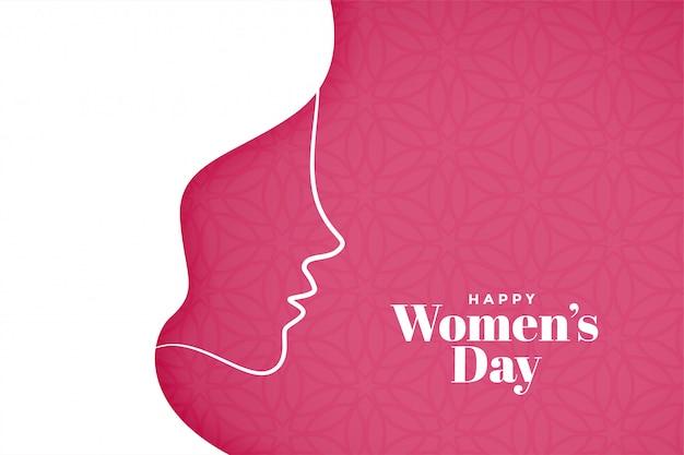 Fundo de dia das mulheres em estilo criativo