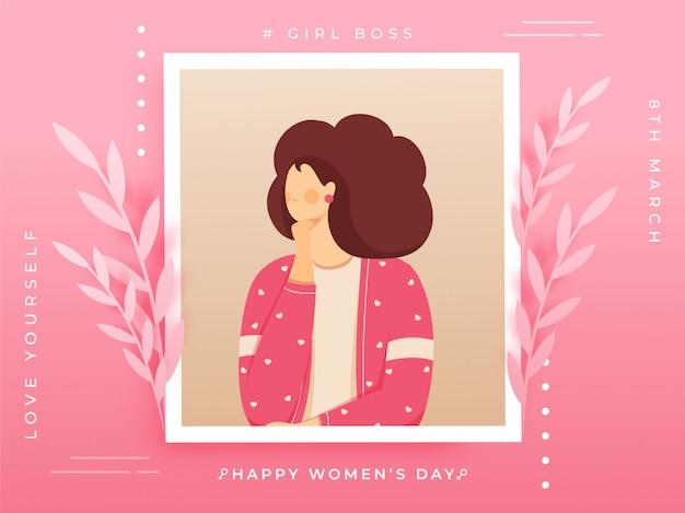Fundo de dia das mulheres.