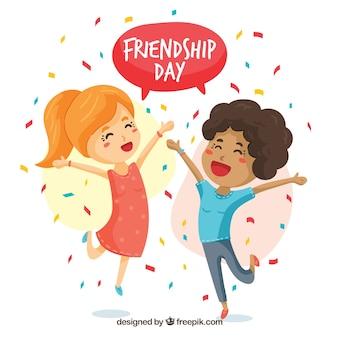 Fundo de dia de amizade com pessoas felizes