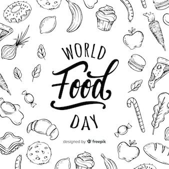 Fundo de dia de comida do mundo criativo
