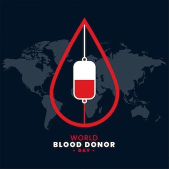 Fundo de dia de doador de sangue do mundo de junho