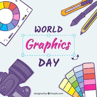 Fundo de dia de gráficos do mundo