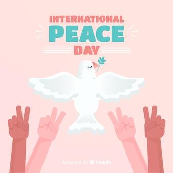 Fundo de dia de paz design plano