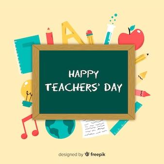 Fundo de dia de professores de mão desenhada