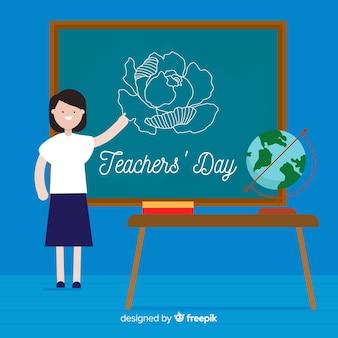 Fundo de dia de professores do mundo moderno