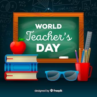 Fundo de dia de professores realista