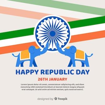 Fundo de dia de república da índia