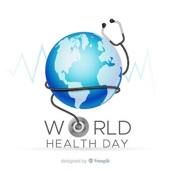 Fundo de dia de saúde do mundo realista