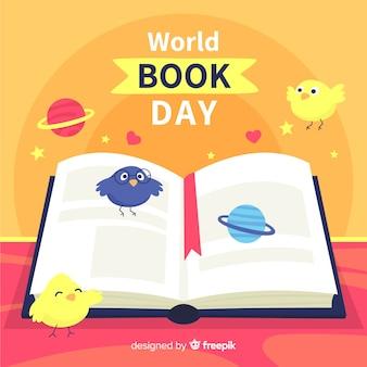 Fundo de dia do livro do mundo