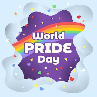 Fundo de dia do orgulho do mundo