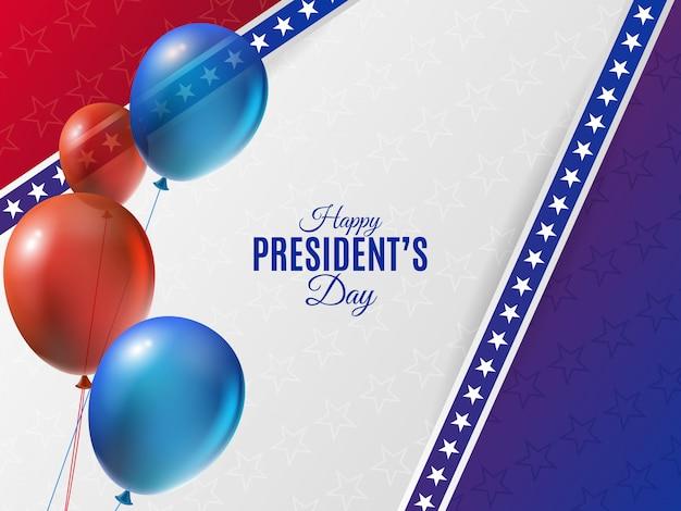 Fundo de dia do presidente dos eua com balões