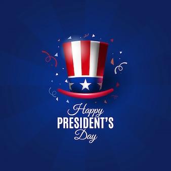 Fundo de dia do presidente dos eua com chapéu