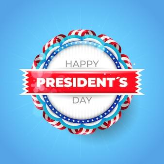 Fundo de dia do presidente dos eua com distintivo