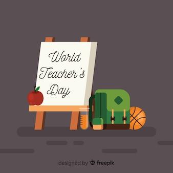 Fundo de dia do professor mundial