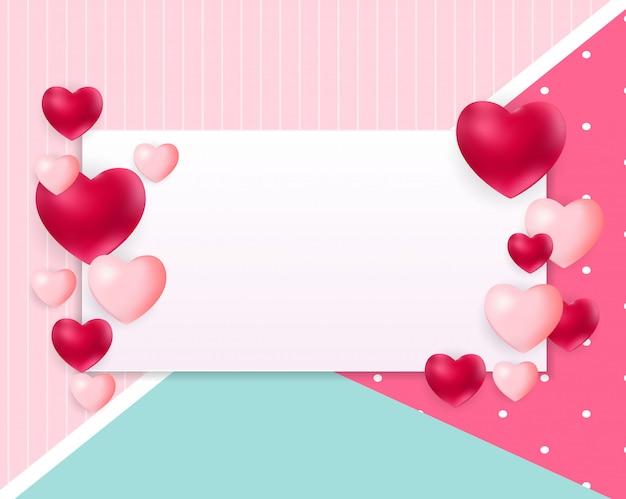 Fundo de dia dos namorados amor com copyspace