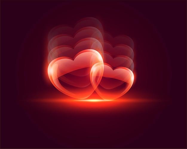 Fundo de dia dos namorados com coração brilhante e brilhante