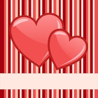Fundo de dia dos namorados com corações