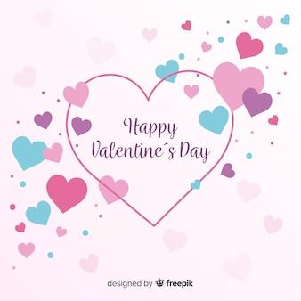 Fundo de dia dos namorados de corações coloridos