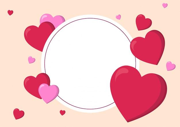 Fundo de dia dos namorados e amor coração