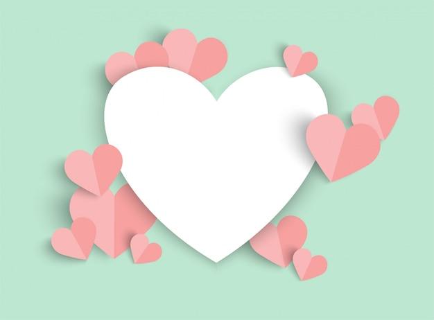 Fundo de dia dos namorados rosa com forma de coração