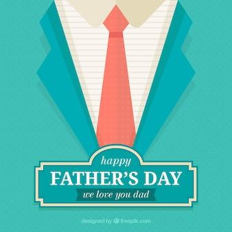 Fundo de dia dos pais com gravata