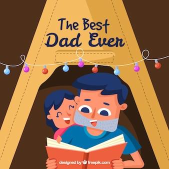 Fundo de dia dos pais com o melhor pai de todos os tempos