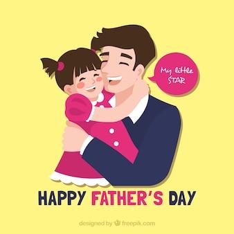 Fundo de dia dos pais com pai e filha