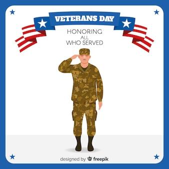 Fundo de dia dos veteranos conosco bandeira