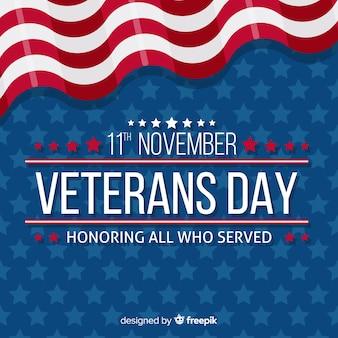 Fundo de dia dos veteranos conosco elementos de bandeira
