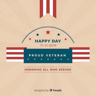 Fundo de dia dos veteranos de design plano
