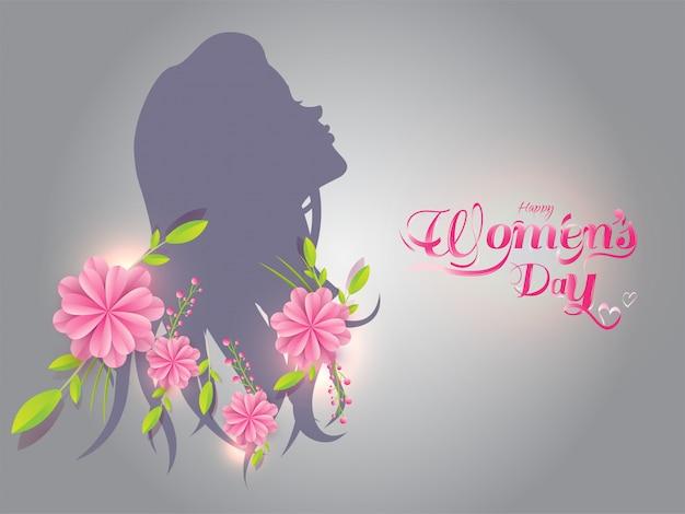 Fundo de dia feliz feminino.