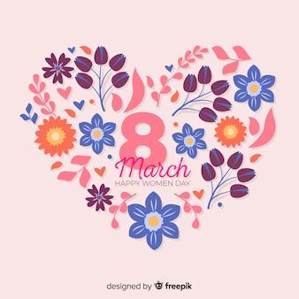 Fundo de dia floral feminino