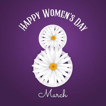 Fundo de dia internacional da mulher com margaridas