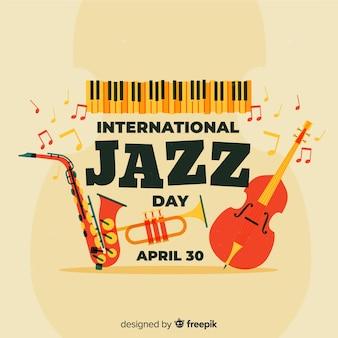 Fundo de dia internacional de jazz vintage