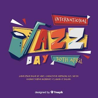 Fundo de dia internacional jazz plana
