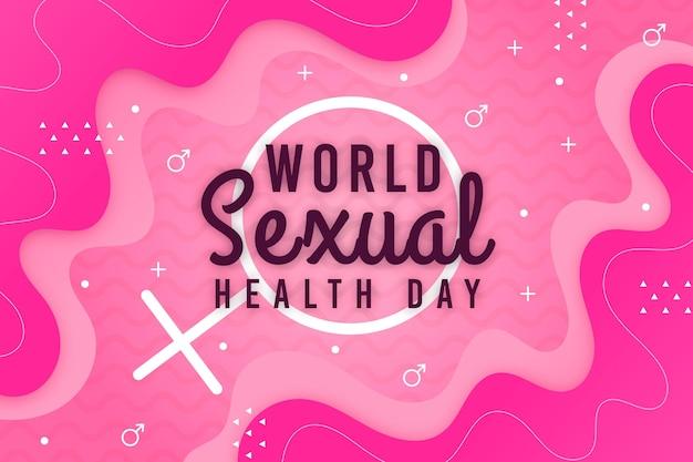 Fundo de dia mundial da saúde sexual com sinal de gênero feminino