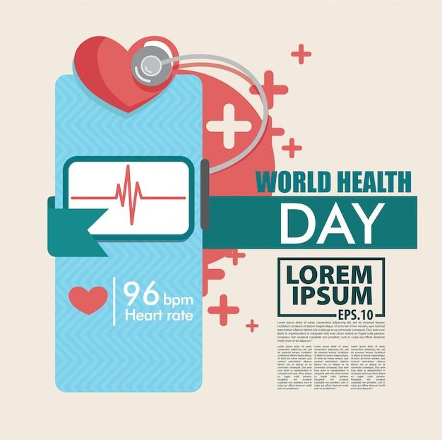 Fundo de dia mundial da saúde vector