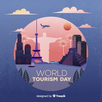 Fundo de dia mundial do turismo