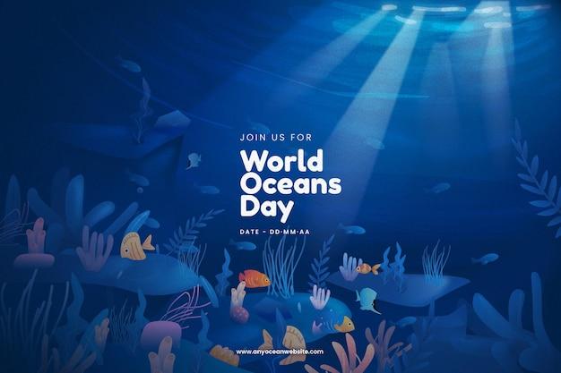 Fundo de dia mundial dos oceanos