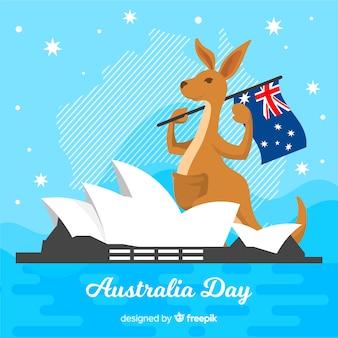 Fundo de dia plana da austrália