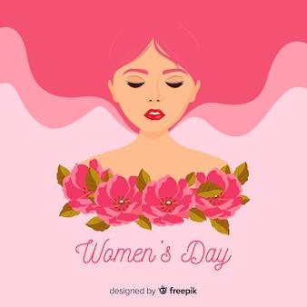 Fundo de dia plana feminino