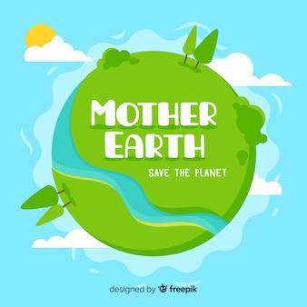 Fundo de dia plano terra mãe