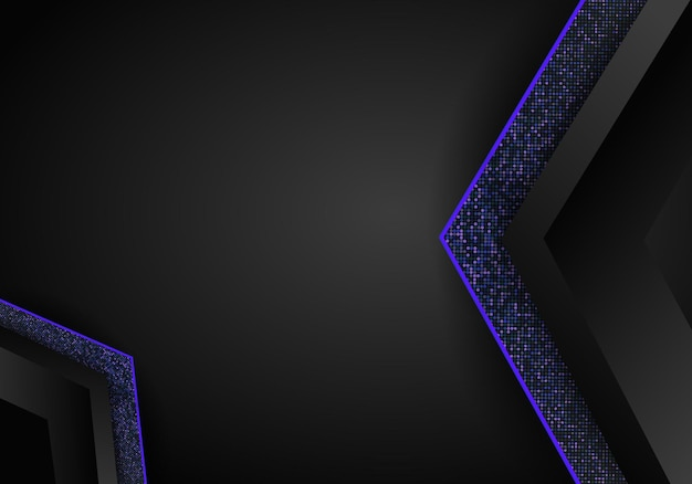Fundo de dimensão de sobreposição azul escuro de luxo no padrão de metal. textura de meio-tom colorida com elementos dourados realistas brilhantes. meio-tom de reluz. molde moderno do projeto do vetor.
