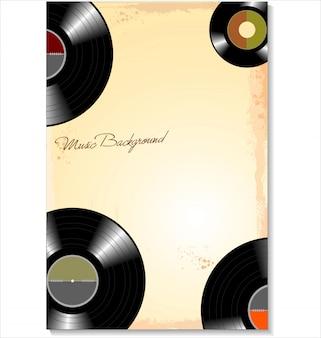 Fundo de discos de vinil