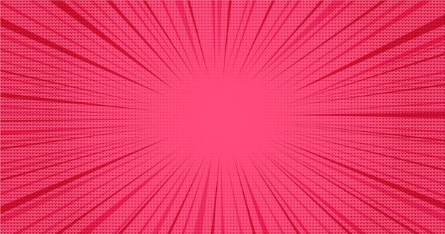 Fundo de discurso em quadrinhos retrô rosa brilhante com efeito de corações em meio-tom