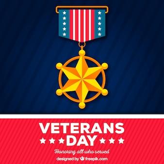 Fundo de distintivo de dia dos veteranos