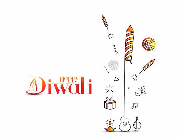 Fundo de diwali feliz, ilustração vetorial.