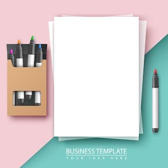 Fundo de documento de negócios.