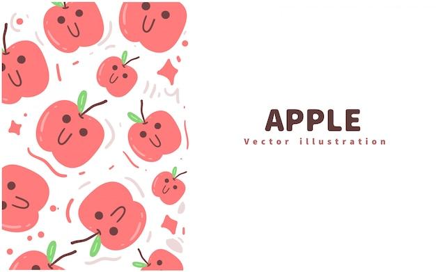 Fundo de doodle de maçã